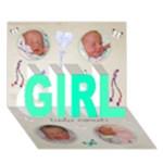 ava - GIRL 3D Greeting Card (7x5)