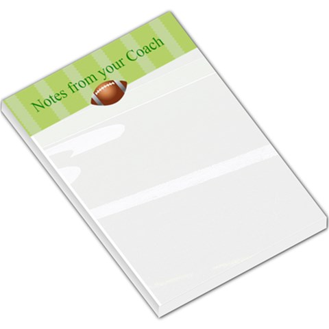 Football Coach Notes By Maryanne   Large Memo Pads   Xs0or9jsbrdv   Www Artscow Com