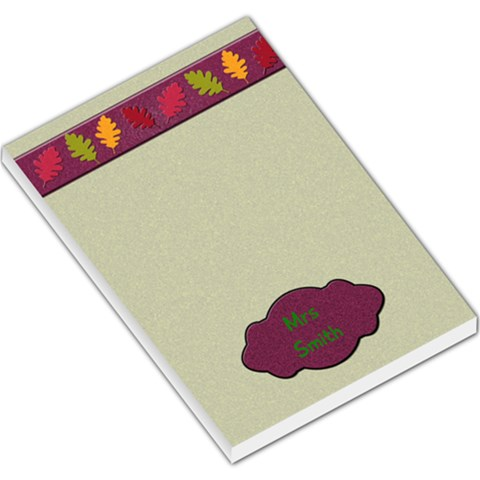 Fall Notepad By Patricia W   Large Memo Pads   0kqy0x51yaw3   Www Artscow Com