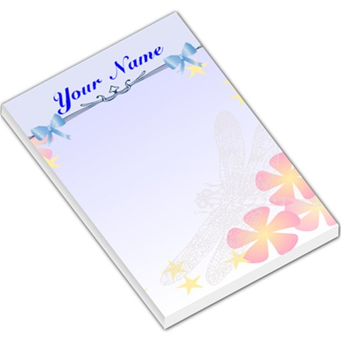 Dragonfly Large Memo Pad By Kim Blair   Large Memo Pads   N6m8k2oh23ej   Www Artscow Com