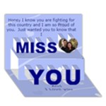 Away at War Miss You Card - Miss You 3D Greeting Card (7x5)
