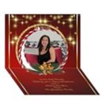 Merry Christmas 3D Circle Christmas Card 2 - Circle 3D Greeting Card (7x5)