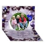 Seasons Christmas Greeting 3D Circle Card blue - Circle 3D Greeting Card (7x5)