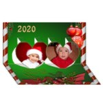 The Christmas Heart 3D Card 2016 - Twin Hearts 3D Greeting Card (8x4)
