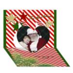 Tis the Season 3d Heart Christmas Card - Heart 3D Greeting Card (7x5)
