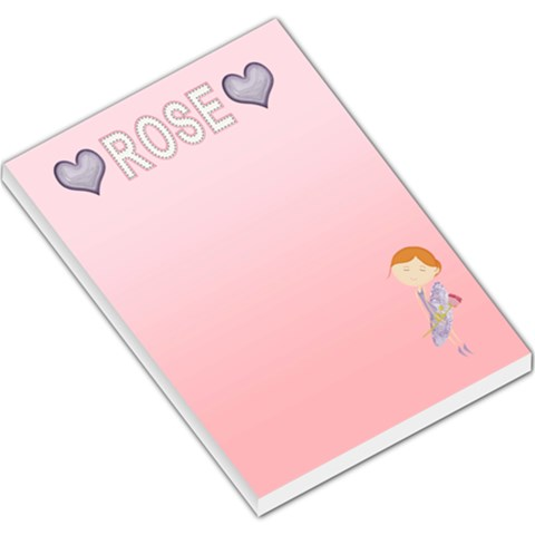 Large Memo Pad By Kate   Large Memo Pads   Qv8e8l2xa28s   Www Artscow Com