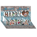 CARTE FETE - Happy Birthday 3D Greeting Card (8x4)