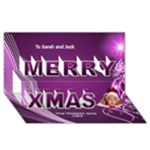 Merry Christmas Pink 3d Card - Merry Xmas 3D Greeting Card (8x4)