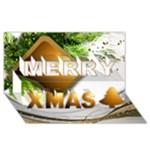 A Merry Christmas 3d Card - Merry Xmas 3D Greeting Card (8x4)