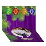 It is a Merry Christmas Circle 3D Card - Circle Bottom 3D Greeting Card (7x5)