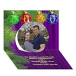 It is a Merry Christmas Circle 3D Card - Circle 3D Greeting Card (7x5)