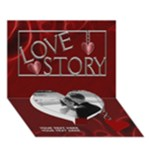 Love Story 7x5 3D Card - Heart Bottom 3D Greeting Card (7x5)