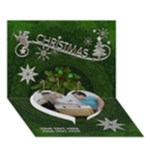 Christmas 7x5 3D Card - Heart Bottom 3D Greeting Card (7x5)