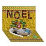Noel 7x5 3D Card - Heart Bottom 3D Greeting Card (7x5)