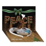 Peace 7x5 3D Card - Heart Bottom 3D Greeting Card (7x5)