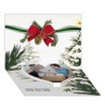 Christmas Tree 7x5 3D Card - Heart Bottom 3D Greeting Card (7x5)