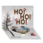 Ho Ho Ho 7x5 3D Card - Heart Bottom 3D Greeting Card (7x5)