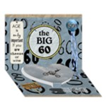 60th Birthday 7x5 3D Card - Heart Bottom 3D Greeting Card (7x5)