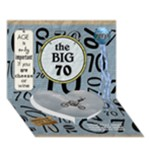 70th Birthday 7x5 3D Card - Heart Bottom 3D Greeting Card (7x5)