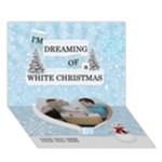 White Christmas 7x5 3D Card - Heart Bottom 3D Greeting Card (7x5)