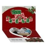 Holly Jolly Christmas 7x5 3D Card - Heart Bottom 3D Greeting Card (7x5)