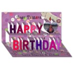 tamara bday card - Happy Birthday 3D Greeting Card (8x4)