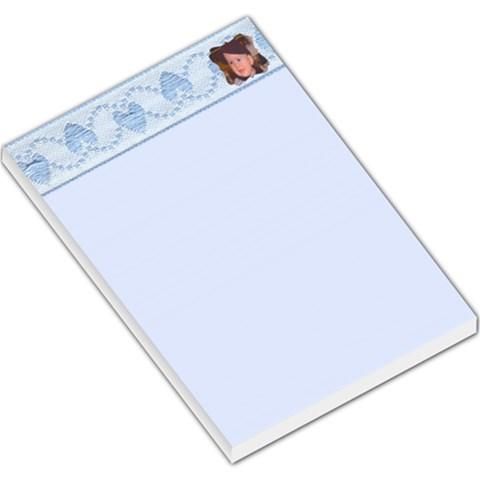 Blue Note Pad Large By James Novak   Large Memo Pads   V3nryr1k56rp   Www Artscow Com