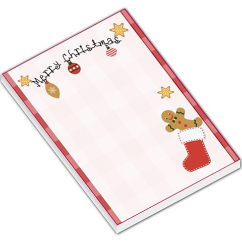 Christmas Memo 3 By Lillyskite   Large Memo Pads   8osdxutld3cl   Www Artscow Com