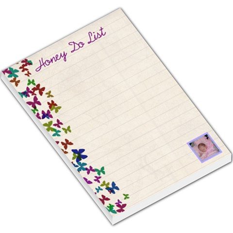 Butterfly Honey Do List  Memo Pad Large By Kim Blair   Large Memo Pads   Il5ypm8v6y8j   Www Artscow Com