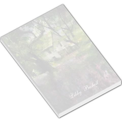 Libby  House Flowers 1 By Liz Mcgowan   Large Memo Pads   5ssqvcbs1mjj   Www Artscow Com