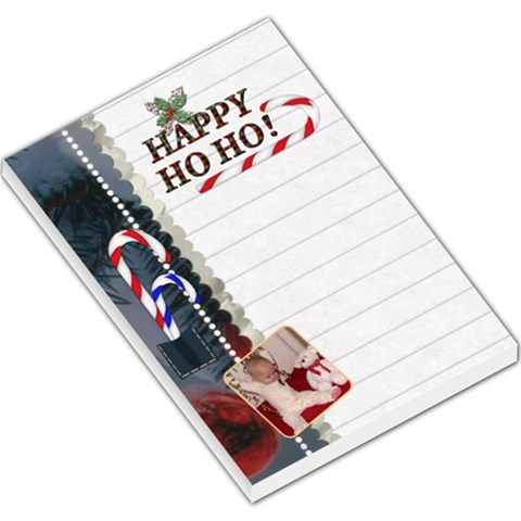 Happy Ho Ho Large Memo Pad By Lil    Large Memo Pads   6v3eevn96qrs   Www Artscow Com