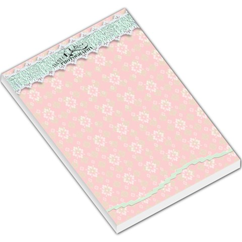 Pink  By Danielle Christiansen   Large Memo Pads   V74b16drxdkk   Www Artscow Com