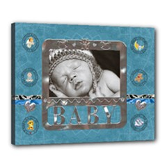 Baby Boy 20x16  Stretched Canvas - Canvas 20  x 16  (Stretched)