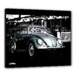 1955 VW Beetle Ragtop Black Canvas Stretch Canvas 24  x 20  (Stretched)