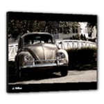1967 VW Beetle Black Stretch Canvas 24  x 20  (Stretched)