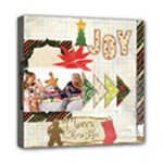 merry christmas - Mini Canvas 8  x 8  (Stretched)