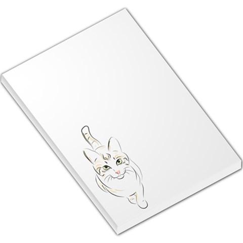 Cat Memo By Divad Brown   Large Memo Pads   Q6ay6b155urx   Www Artscow Com