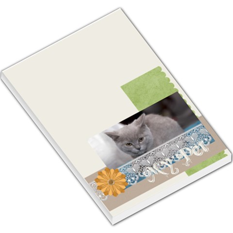 Pet Cat By Jacob   Large Memo Pads   T3b29vlbi6se   Www Artscow Com