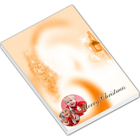 Merry Christmas By Man   Large Memo Pads   O2c2r69oz4jp   Www Artscow Com