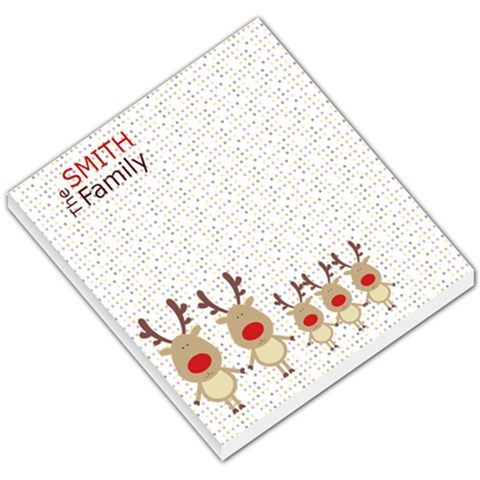 Rudolph Family Note Pad 2 By Sheila   Small Memo Pads   Hml2l91f90g1   Www Artscow Com