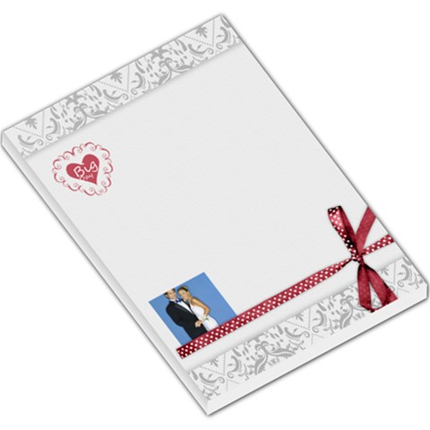Wedding By Joely   Large Memo Pads   04cpblz2memv   Www Artscow Com