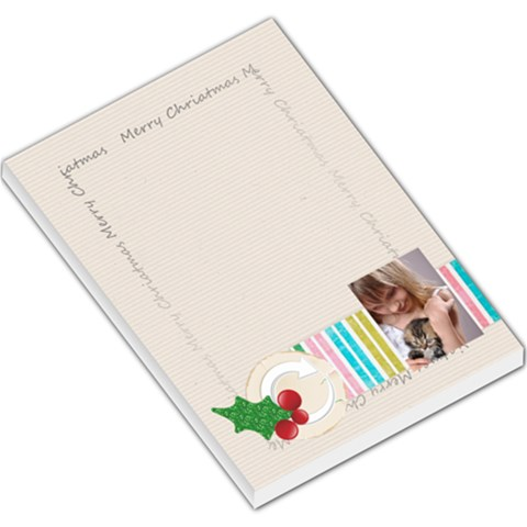 Merry Christmas By Joely   Large Memo Pads   Tbbxqwenfxz5   Www Artscow Com