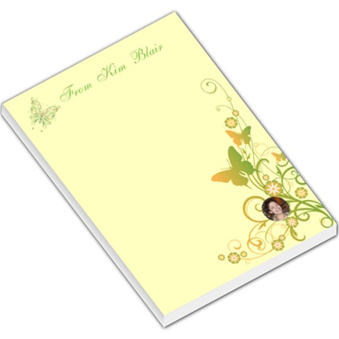Butterfly Swirl Large Memo Pad By Kim Blair   Large Memo Pads   S27s61rb4x6p   Www Artscow Com