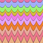 Pastel waves pattern