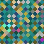 Rhombus pattern in retro colors