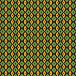 Green yellow rhombus pattern