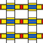 Colorful squares and rectangles pattern
