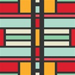 Mirrored rectangles in retro colors