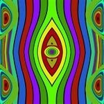 Colorful symmetric shapes