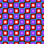 Connected squares pattern